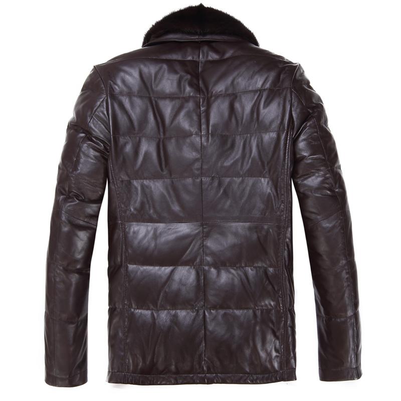 Одежда из кожи Burt Qiaowei 8172 Одежда из натуральной кожи Овечья кожа Зимняя Отложной воротник