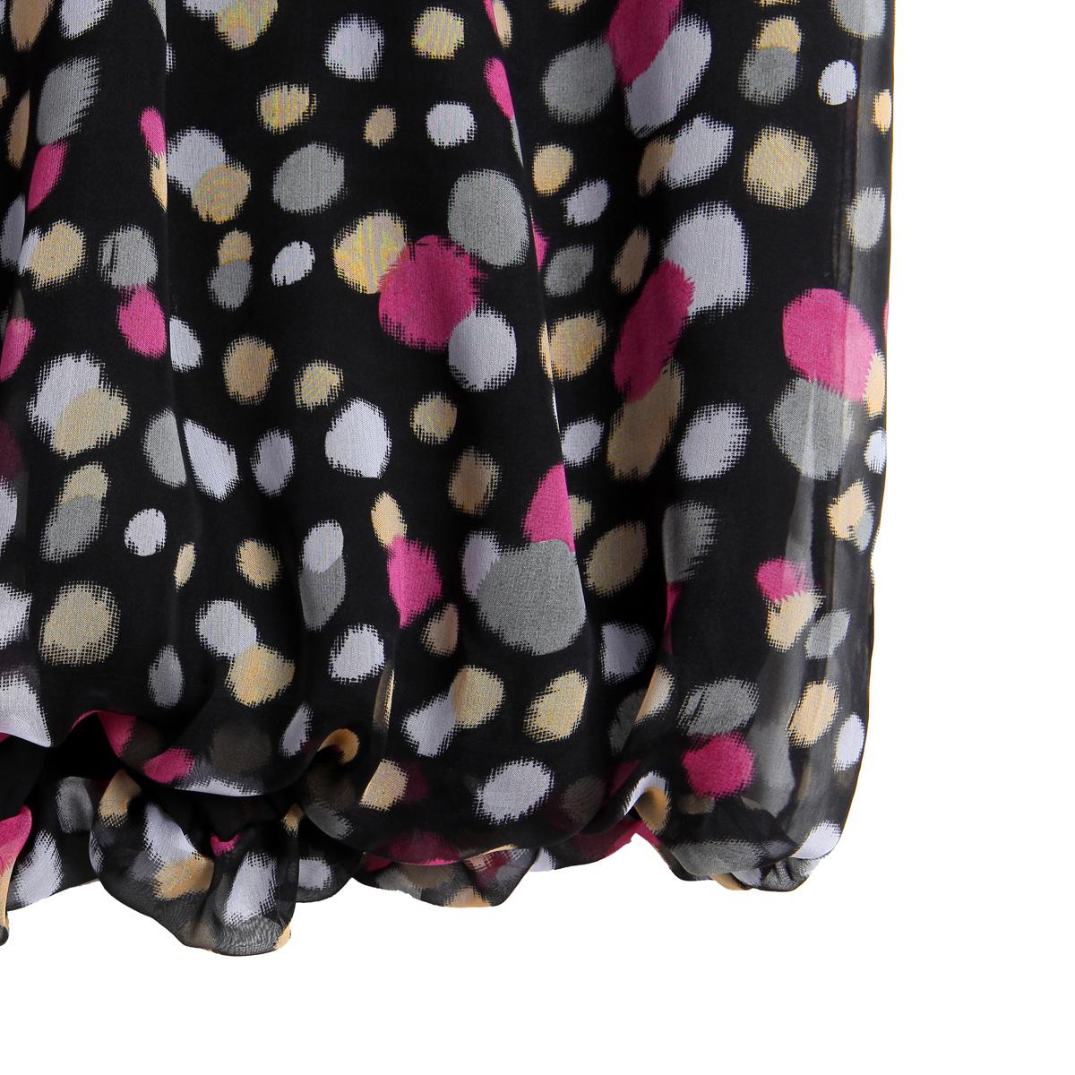 женская рубашка OSA sc10169 O.SA2011 Повседневный Без рукавов В горошек Оборка О-вырез