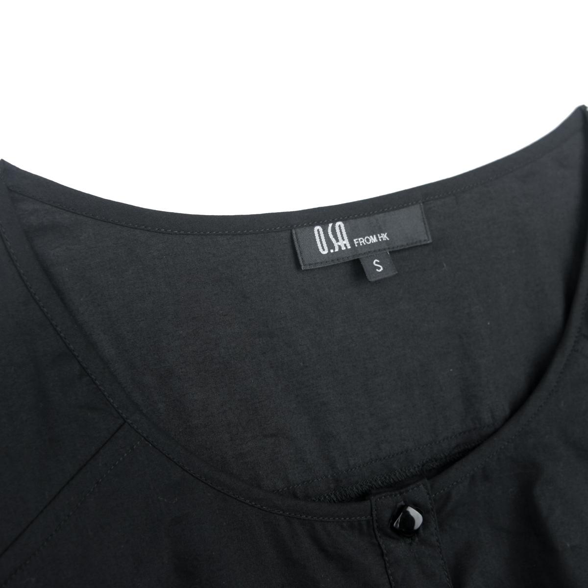 женская рубашка OSA sc00207 O.SA Повседневный Однотонный цвет Оборка О-вырез