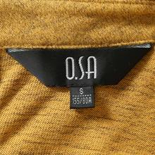 OSA Ou Sha New Model Lady's Shirts At the End of Autumn / winter Women's Temperament Commuting Simple Solid Color Long Sleeve T-shirt T32412