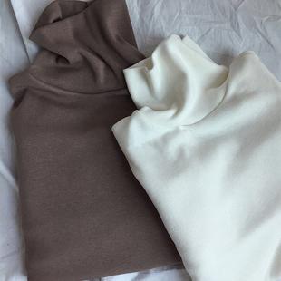 高领打底衫女长袖2018秋冬 女装学生内搭体恤加绒t恤上衣