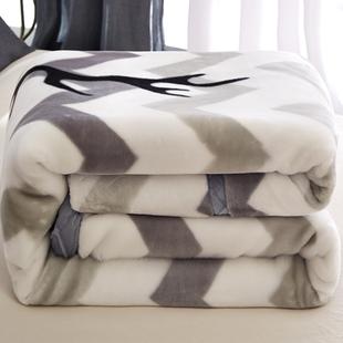 珊瑚绒毯子冬季加厚法兰绒拉舍尔毛毯垫床单人保暖午睡沙发小被子
