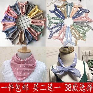 儿童棉麻围巾婴儿丝巾男宝宝小方巾围脖女三角巾领巾百搭薄款
