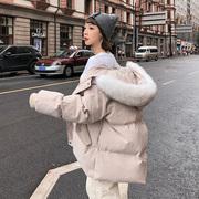 2018棉衣女潮中长款冬装女士ins面包服冬季羽绒棉服外套棉袄