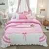少女心四件套全棉纯棉公主风床裙式床单被套1.5 1.8m床上用品