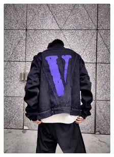 正确版本VLONE基础夹克刺绣紫大v牛仔服衬衫外套丹宁冬FRINEDS秋