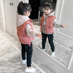 童装女童套装秋冬装2018洋气时尚中大童女孩时髦加厚三件套潮
