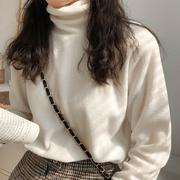 秋冬季女装显瘦半高领打底衫T恤百搭基础款长袖体恤上衣