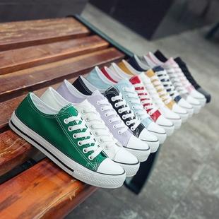 帆布鞋女鞋原宿ulzzang潮百搭秋季布鞋学生2018小白板鞋