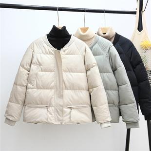 欧洲站棉衣女短款2018冬季宽松羽绒棉bf潮流时尚加厚棉服