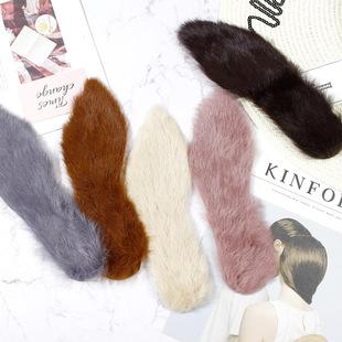 鞋垫女冬季皮毛一体兔毛毛鞋垫尖头高跟鞋靴子防臭加厚保暖毛鞋垫