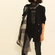 男女通用经典百搭学生英伦风格纹加长羊毛围巾女春秋薄大格子丝巾