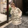 2018冬季东大门米白色中长款羽绒棉衣外套女ins面包服棉袄