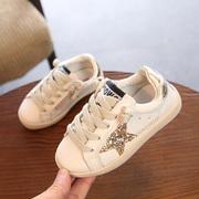 女童小白鞋板鞋 2019春季男童学生运动单鞋百搭儿童