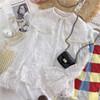 林可可 法式宫廷风 大翻领重工珍珠边刺绣蕾丝喇叭袖打底内衬衫女