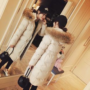 棉衣女2018冬中长款棉服 ins外套短款过膝小个子羽绒棉袄