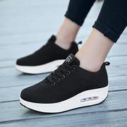 摇摇鞋女2018秋季运动鞋网面透气跑步鞋厚底单鞋女子