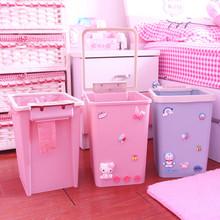 创意可爱卡通垃圾桶厨房卫生间压圈垃圾筒家用大号客厅卧室废纸篓