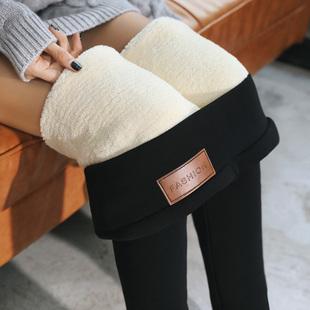 2018超厚东北羊羔绒打底裤女冬加绒加厚高腰外穿显瘦保暖棉裤