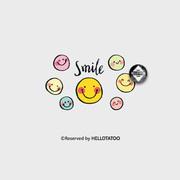 彩色笑脸 泫雅明星纹身贴防水女 持久手腕可爱小清新韩国贴纸