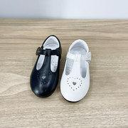 同款斯乃纳童鞋2021春款女童丁字皮鞋爱心真皮宝宝单鞋110241