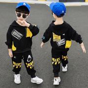 男童春装1一2三4五6岁宝宝时尚套装洋气童装3男孩帅气两件套春秋7