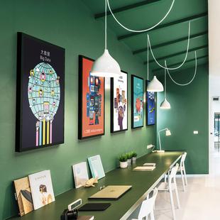 互联网络科技公司办公室企业文化个性创意艺术海报装饰挂画壁画框