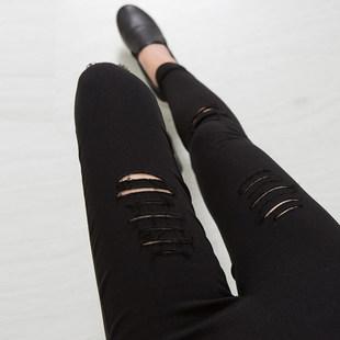 2014秋季常规七分裤 九分裤外穿大码高腰弹力铅笔裤女打底裤