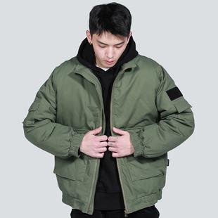 二十八间冬季棉衣ma1飞行员夹克加厚潮牌外套男士宽松ins工装棉服