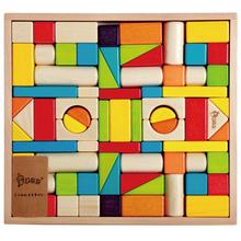 儿童六一生日礼物环保拼装大块木头积木1-2-3-6周岁早教益智玩具