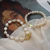 冰岛日记天然巴洛克珍珠法式少女ins水晶爱心手链手镯手环