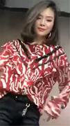 碎花显瘦雪纺衫欧洲站秋冬女装洋气甜美套头上衣潮流女衫