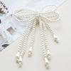 珍珠蝴蝶结女式胸针别针欧美精致优雅气质针织外套西装衣服装饰品