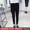 2019春夏裤男小脚长裤子发型师潮流黑色裤子男款