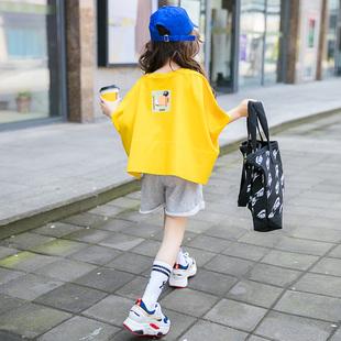 女童夏装2019儿童装短袖运动套装中大童洋气潮衣服女孩两件套