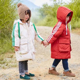 儿童羽绒服女童中长款2018加厚男童冬装外套3-5-7岁