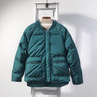 棒球羽绒服女短款2018冬季立领宽松加厚白鸭绒小个子外套