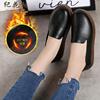 纪花村真皮牛皮春季女鞋平底单鞋女妈妈鞋舒适透气