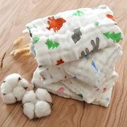 丽岩纯棉纱布毛巾婴儿口水巾儿童宝宝洗脸小方巾新生婴儿用品