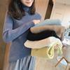 冬装马卡龙纯色半高领打底毛衣女长袖显瘦内搭针织衫