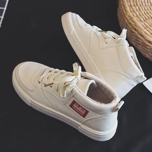 2019高帮帆布鞋潮流男鞋百搭布鞋板鞋春季小白鞋潮鞋