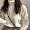 右米秋冬季黑色白色半高领打底衫女T恤百搭内搭长袖上衣