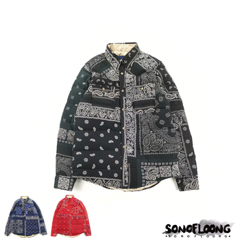 SONOFLOONG KERCHIEF DOWN JKT腰果花ICT羽绒服外套棉袄非VISVIM