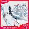 上海故事100真丝丝巾桑蚕丝秋冬季围巾春秋百搭女小方巾