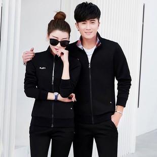 韩国品牌潮款秋季情侣卫衣套装男士长袖运动衣跑步运动服套装