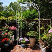 欧式庭院拱门花架爬藤架 花园装饰园艺支架蔷薇月季攀爬植物架子