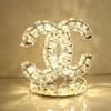卧室床头柜灯温馨水晶台灯简约现代公主时尚少女心家用结婚庆台灯