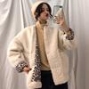 加厚仿羊羔毛豹纹宽松外套秋冬2018女装很仙的大衣百搭潮