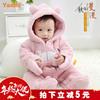 宝宝秋冬装套装女0一1岁新生冬天连体衣加厚包脚可爱公主婴儿衣服