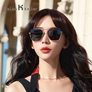 海伦凯勒2019多边个性潮流墨镜优雅大框度假太阳眼镜女H8811
